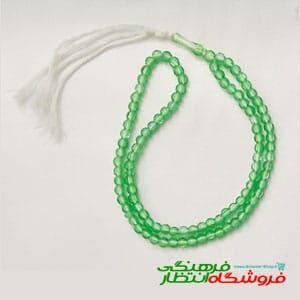 تسبیح سبز شیشه ای